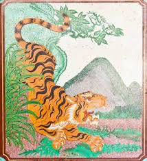 chinese tiger drawing. Unique Tiger Drawing A Tiger On The Wall In Chinese Temple Stock Photo  10546147 Intended Tiger