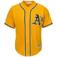 Majestic Yellow Oakland Replica A's Jersey Xxxlarge|Vintage NFL Pro Football MEMORABILIA Collectible Antiques For Sale From Gasoline Alley Antiques