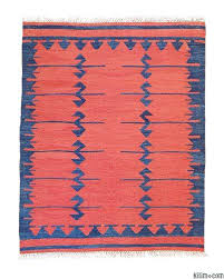 blue red new turkish kilim area rug isuwa