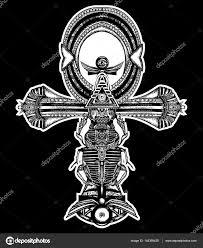 анкх татуировки древний египетский крест дизайн футболки