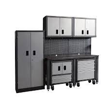 garage storage cabinets lowes. international tool storage gos ii 95-in w x 80-in h gray steel garage cabinets lowes