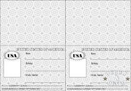 Free Passport Template For Kids Stunning Passport To ReadingBurlap Denim