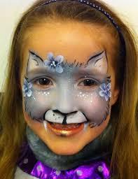 beautiful face paint cat