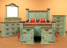 rustic bedroom furniture sets. Dallas Designer Furniture | Turquoise Washed Rustic Bedroom Set Sets K