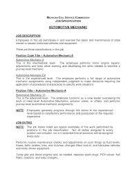Mechanic Resume Cover Letter Resume Automotive Mechanic Auto