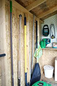 organised garden tools tool hangers for garage storage shed organisation ideas