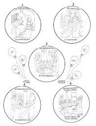 Rosary Coloring Page Good Mysteries Of The Rosary Coloring Pages And