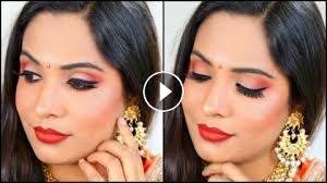 indian bridal makeup orange step by
