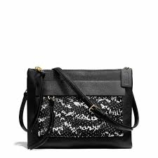 The Coach Madison Felicia Crossbody in Two Tone Python Embossed Leather