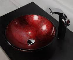 red sink bowl for bathroom