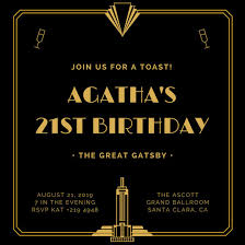 Great Gatsby Invitation Template Great Gatsby Invitation Template Free Download Major