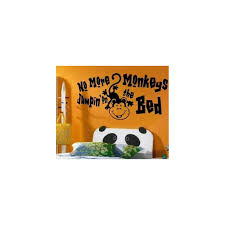 no more monkeys jumping on the bed vinyl wall art