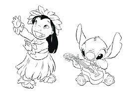 Stitch Coloring Pages Cute Christmas Lilo And Sti Pictures Drinking