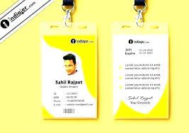 Company Id Badge Template 8 Best Company Id Card Templates Ms Word Word Id Card