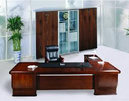 elegant office desk. Modern Executive Desk Elegant Office With Firm Brown Black Chair Cabinetry And Bamboo In Porcelain Pot