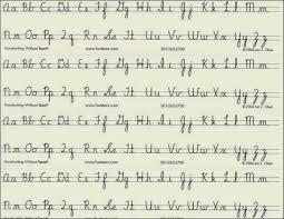 Cursive Handwriting Chart Hand Writing