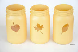 painted fall mason jars theidearoom net