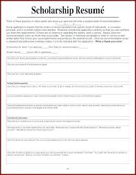 Scholarship Resume Template College Scholarship Application Template
