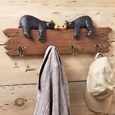 Cabin Coat Rack Lazy Lovers Black Bear Coat Rack 10