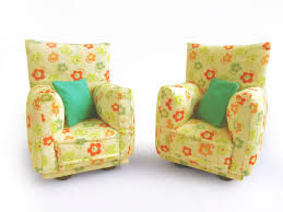 Printed Chairs Living Room Yellow Print Living Room Chairs Yes Yes Go