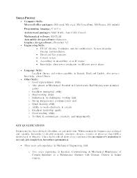 Computer Skills For Resume Simple Computer Skills Resume Examples How Science Sample List Software