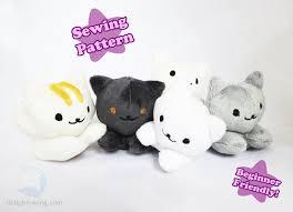 Plush Pattern Delectable Cute Kitten Beanie Plush Pattern