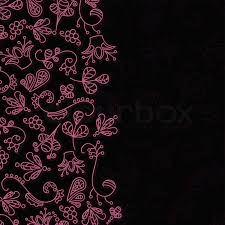 Beautiful Patterns Custom Beautiful Patterns On A Black Background Stock Vector Colourbox