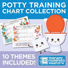 Potty Training Chart Potty Training Chart Collection 10 Themes Included