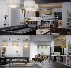 Open Kitchen Dining Living Room Leks Architects Kiev Apartment Open Plan Kitchen Dining Living
