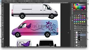 Design Your Own Car Wrap How To Make A Commercial Cargo Van Car Wrap Mockup Tutorial Using Adobe Photoshop