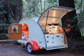 pictured here is camp weathered s teardrop trailer it s essentially a huge tent upgrade