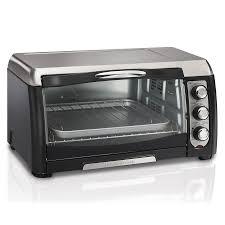 hamilton beach 6 slice gray convection toaster oven with auto shut off