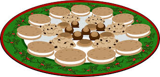 plate of christmas cookies clipart. Clipart Plate Of Yummies Svg Stock To Christmas Cookies