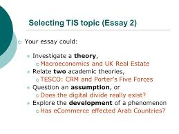 thematic independent studies lecture essay ppt video  selecting tis topic essay 2