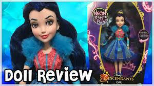 Disney Descendants Neon Lights Dolls Disney Descendants Neon Lights Ball Evie Review Doll Comparisons