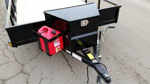 echo trailers extra large tongue box and five gallon gas can rack echo trailers extra large tongue box and five gallon gas can rack compatible all