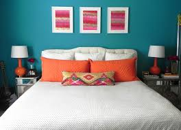 Colorful Bedroom Wall Designs 17 Best Ideas About Blue Orange Bedrooms On Pinterest Orange