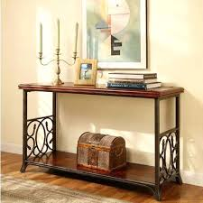 American Country Furniture  Wrought Iron Console Table Solid Wood Entrance Door Hall Cabinet Shelving