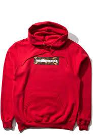 Худи The Hundreds Camo <b>Bar</b> Pullover RED