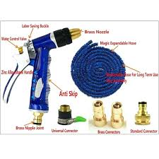 100 ft garden hose costco kit portable car washing tool household watering set all brass accessories