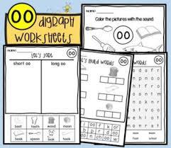 Phonics worksheets for kids including short vowel sounds and long vowel sounds for preschool and kindergarden. Oo Sound Worksheets Teachers Pay Teachers