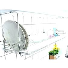 wall mount dish drying rack commercial mounted drain plate