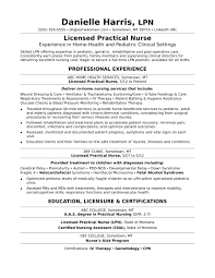 Lpn Resume And Cover Letter Practical Nursing Examples Sample No