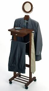 Mens Suit Valet Winsome Valet Stand With Mirror Drawer Tie Hook Casters By Oj