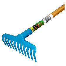garden rake. Children\u0027s Garden Rake With Plastic Head / Hardwood Handle - Blue Little Diggers
