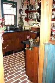 Wine cellar and tavern room brick tile floor, Wright's Ferry, Marietta  color ...
