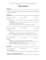 Chronological Resume Template Example Templates Free Download Word