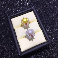 new arrival pearl ring mountings findings adjustable ring jewelry setting parts fittings charm accessories silver