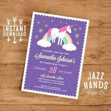 Party Invitations Templates Word Elegant Unicorn Birthday