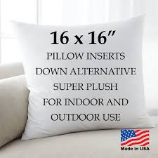 16x16 pillow factory throw pillow inserts euro square hypoallergenic